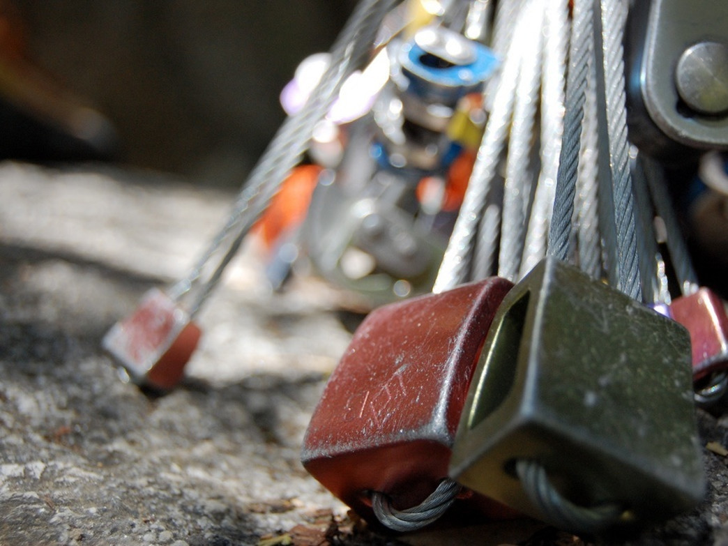 Nuts are essential tools in trad climbing.