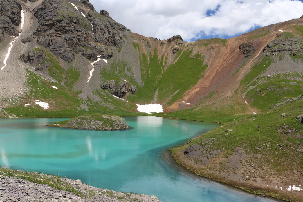 A challenging hike leads to Island Lake in southern Colorado.