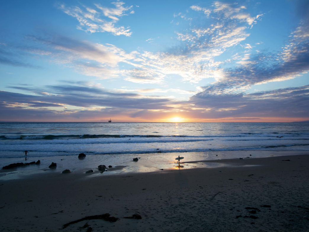 An ocean sunset is just one of the must-sees during a Santa Barbara getaway.