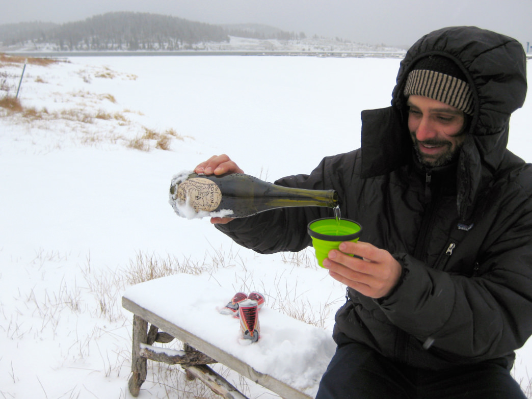 Ryan Arnold is a snowboarder and sommelier who knows a thing or two about enjoying some vino in the great outdoors.