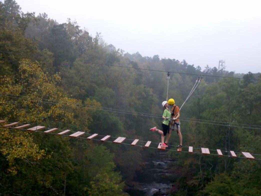 Banning Mills features the world's longest continuous zip-line course.