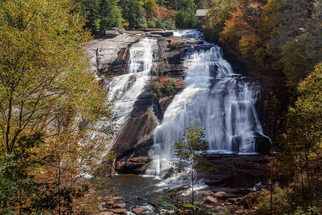 Trails in DuPont State Recreational Forest visit creeks, waterfalls, and wading pools.
