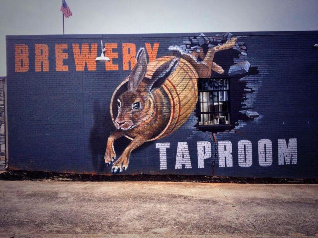 The Swamp Rabbit Brewery and Taproom on Main street.