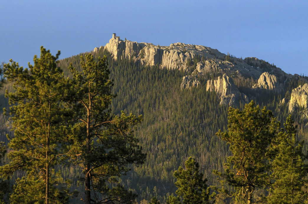 Black Elk Peak features 100-mile views from its summit.