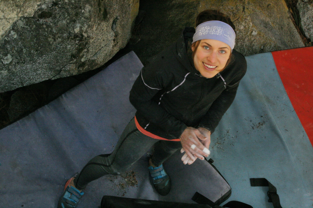 Lisa was a gymnast growing up, but when the gym in her town closed she tried climbing. Gramicci