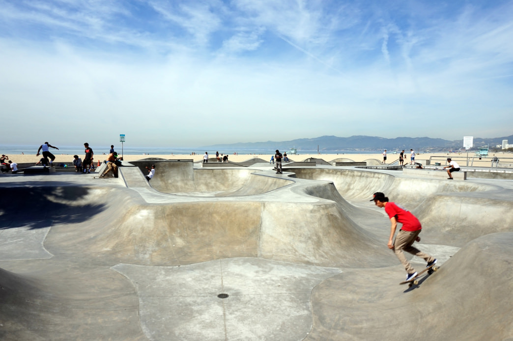 Skate side by side with some skateboarding greats at the Venice Beach Skatepark.