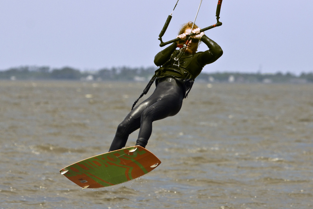 Test your skill kiteboarding on the Crystal Coast.