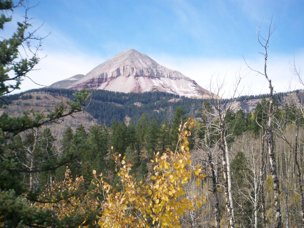Engineer Mountain comes to life in the fall.