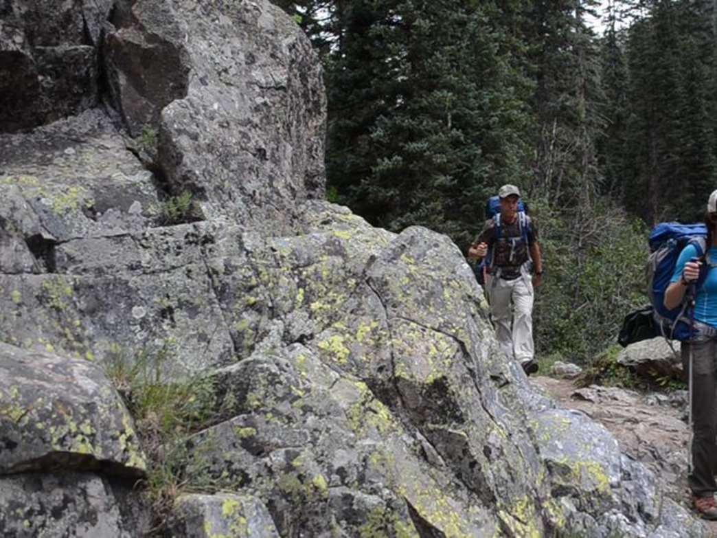 Vallecito Creek is ideal for day hikes and extended trips.