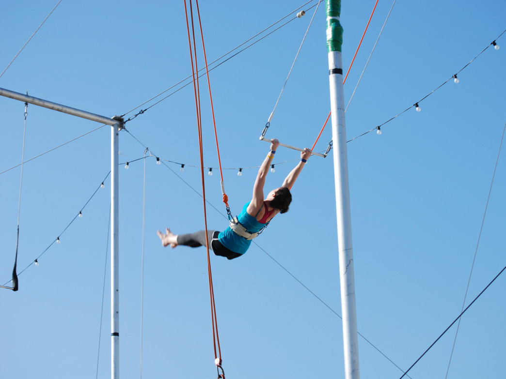 Take advantage of Asheville's outdoor circus arts facility.