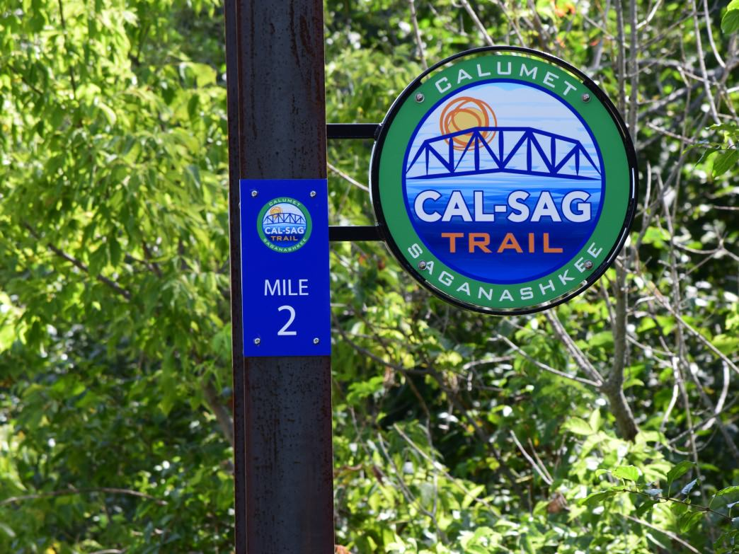 The new Cal-Sag Trail will connect Lemont, IL, to Indiana when finished.