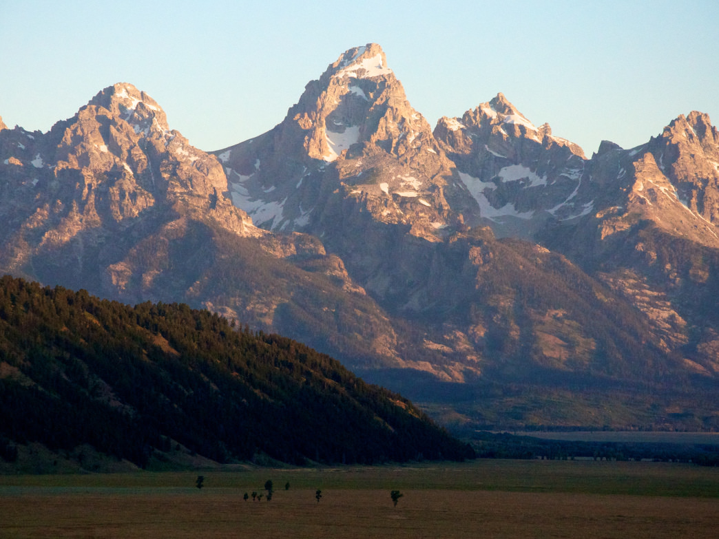 The Grand Tetons in all their mountain glory.