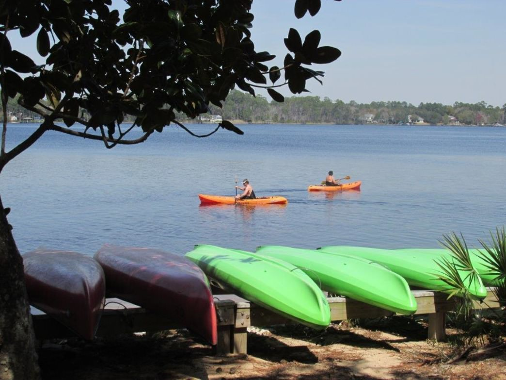 Kayaking in Fred Gannon State Park.