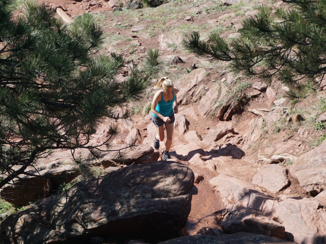 The Mount Sanitas Trail is a steep, rocky lung-buster.