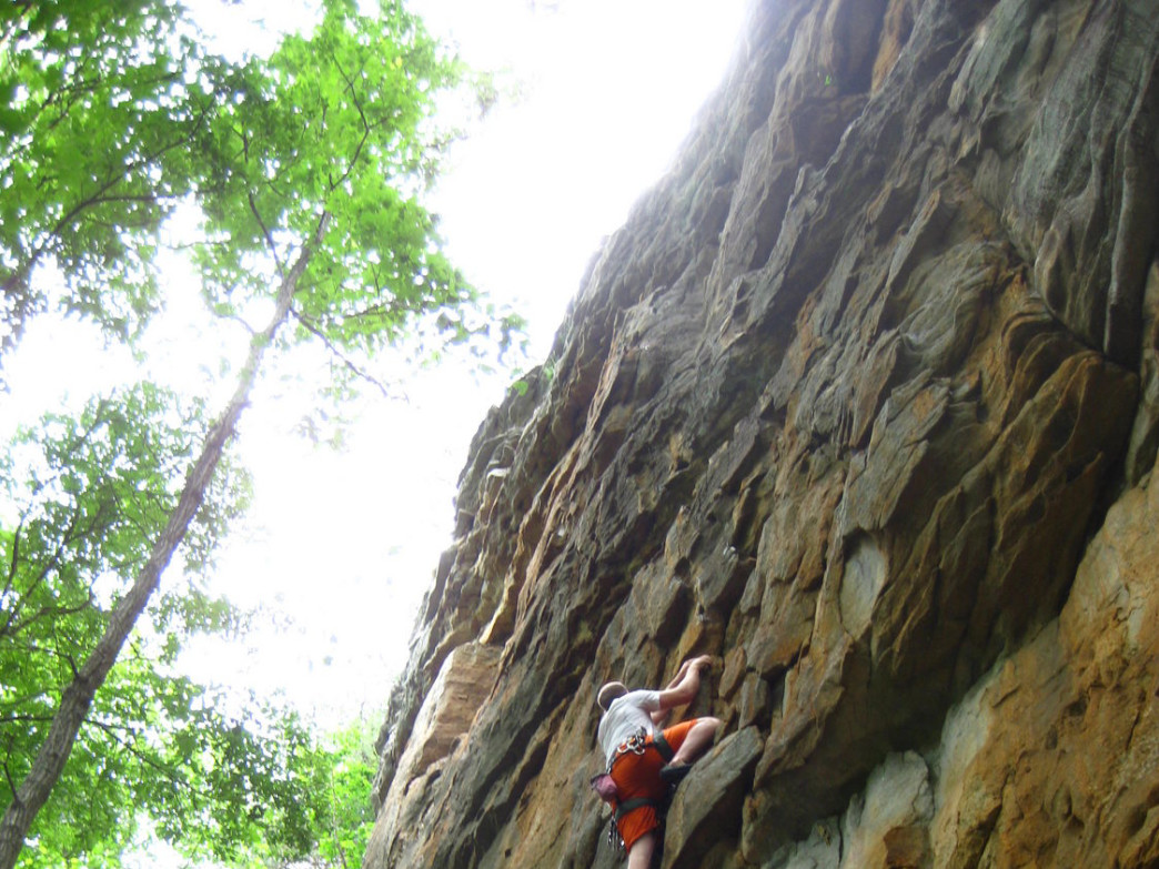 Sport climbing at Yellow Bluff.