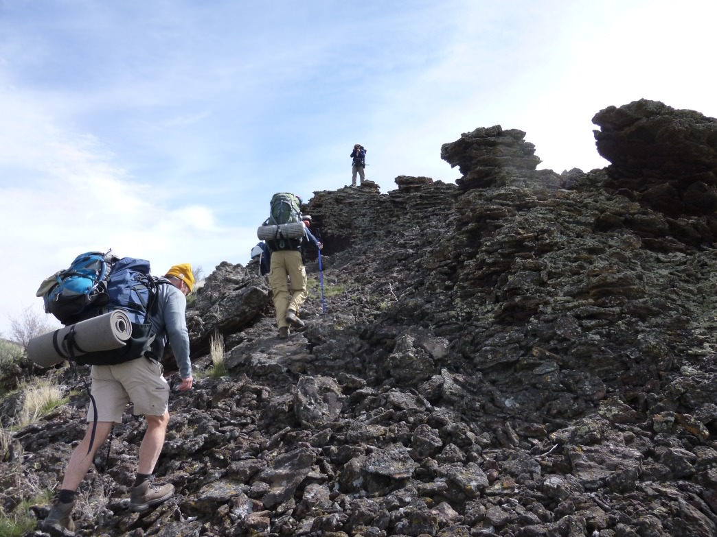 Hiking through Idaho's Craters of the Moon National Monument.