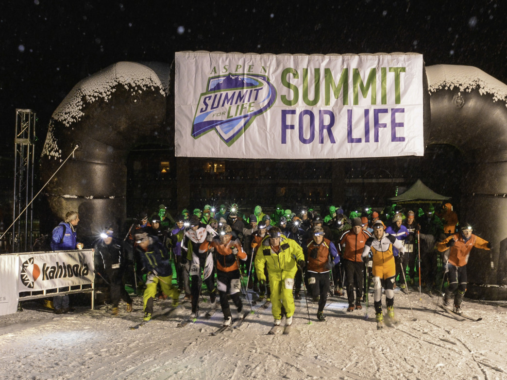 Racers at the start of the Summit for Life