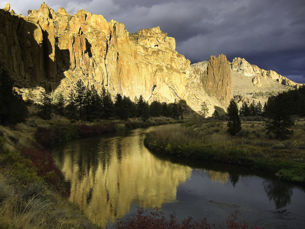 Smith Rock State Park offers a mix of rock-climbing routes, and hiking and equestrian trails.