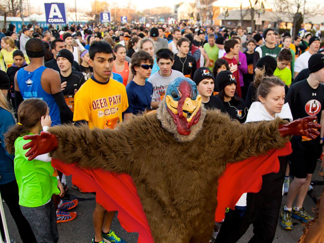 The North Shore Turkey Trot brings several thousand runners to Highland Park each year.