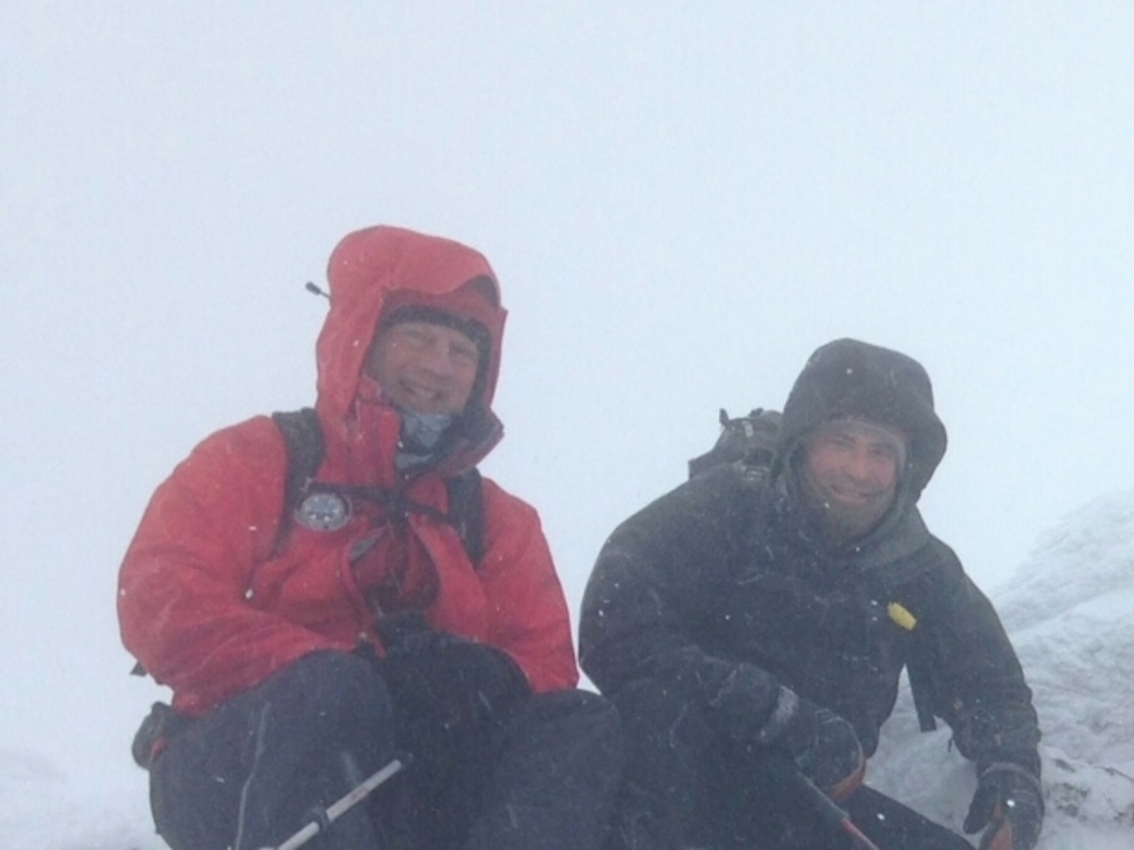 Chief del Pozo and Niel van Dyke, Head of Search and Rescue for the State of Vermont, on the summit of Camel's Hump.