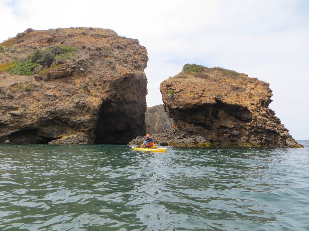 Exploring the Channel Islands by kayak.