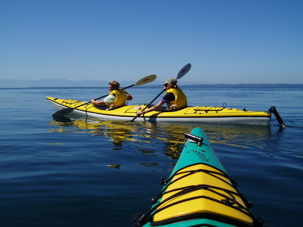 A perfect day for kayaking in the San Juan islands