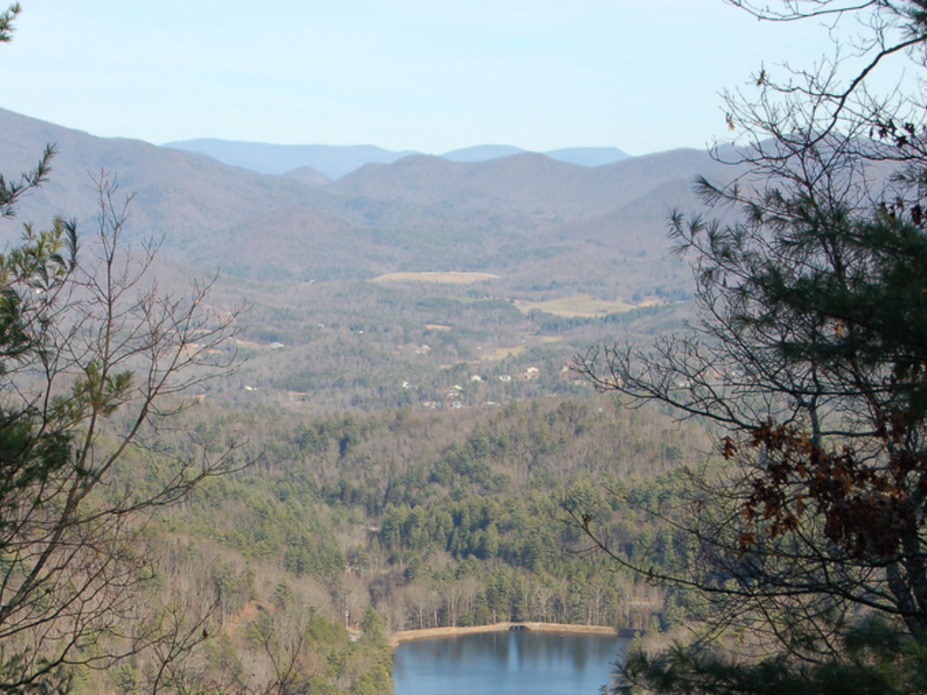 View of Vogel State Park from Bear Hair Gap Trail