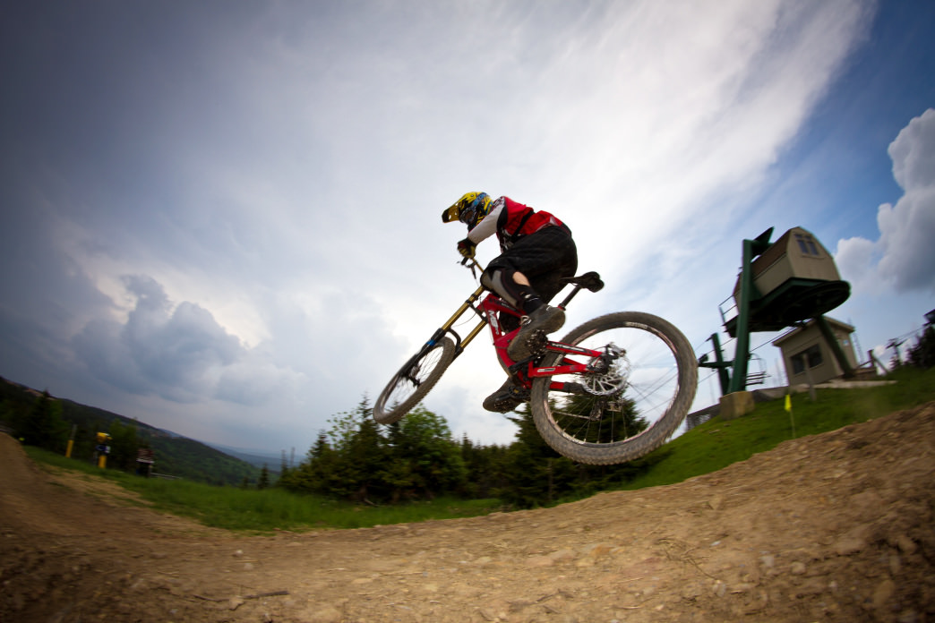 Snowshoe Bike Park has trails that range from easy to expert.