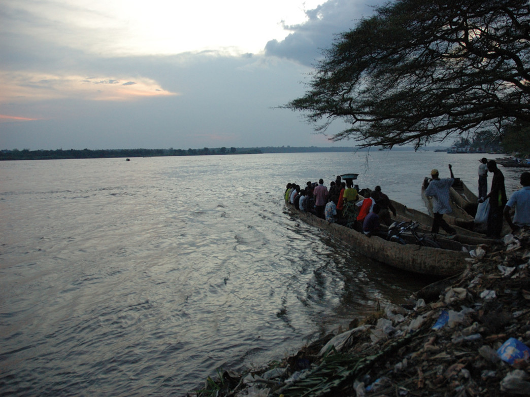 A flat section of the Congo River