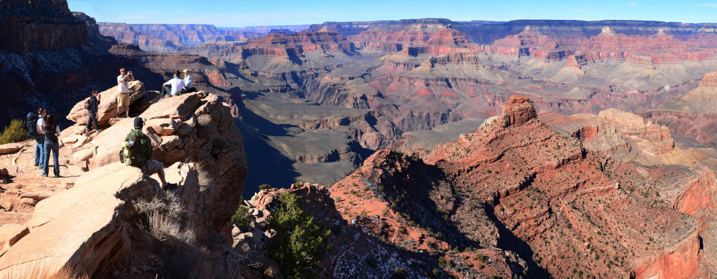 Ooh Ah Point gives you one of the best views of the Grand Canyon.