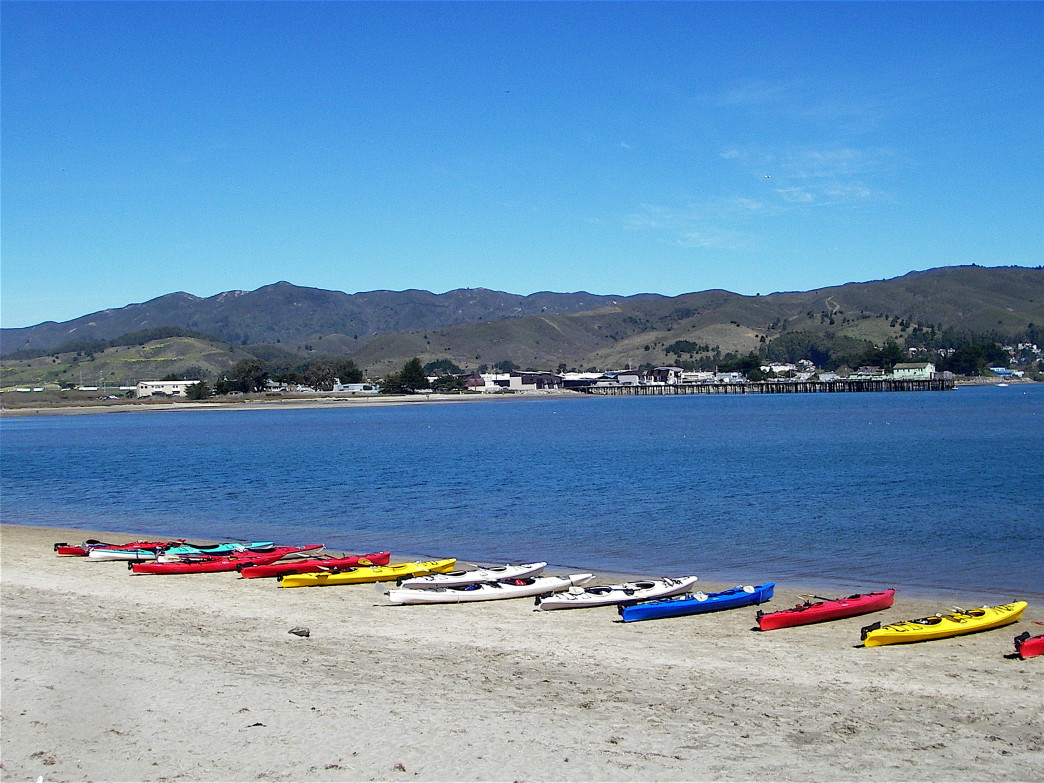 With its protected harbor,  Half Moon Bay is an ideal spot for beginning kayakers and SUPpers.