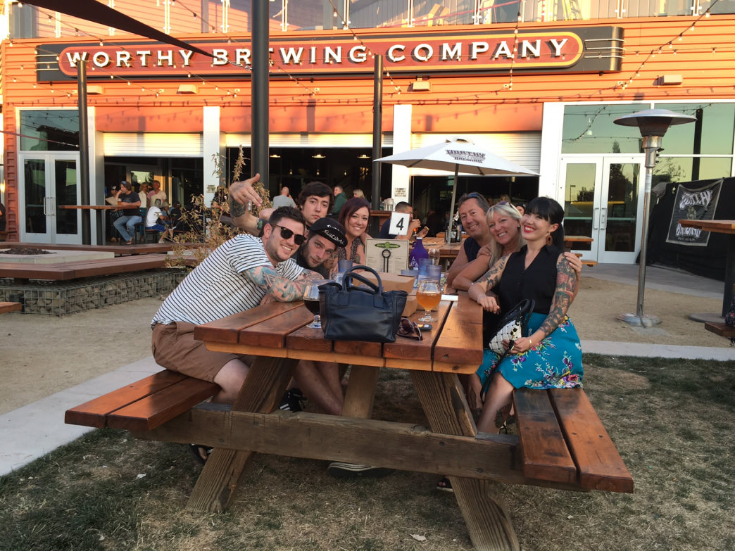 Summertime, and the livin' is easy at Worthy Brewing Company.