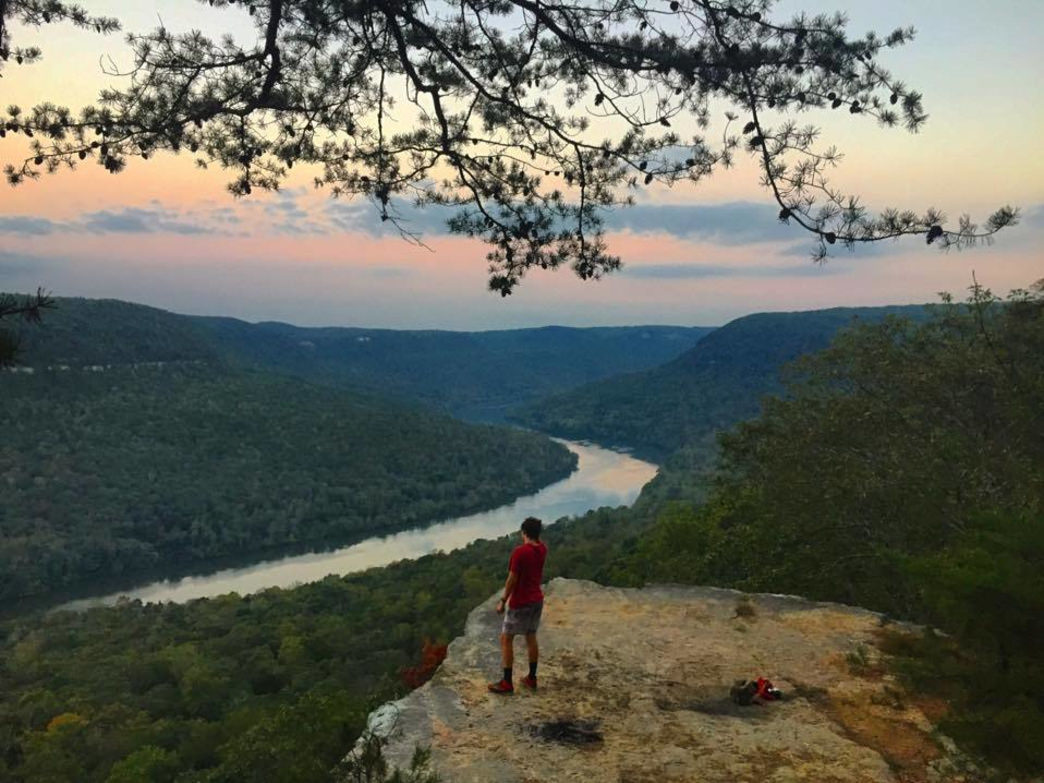 Trail running in Chattanooga can provide you with some amazing views, like here on the Mullens Cave Loop.     Jake Wheeler