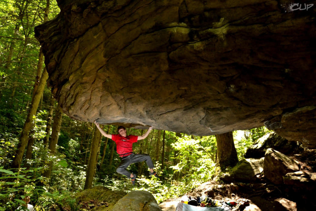 Corner Rock is Asheville's closest outdoor bouldering venue.