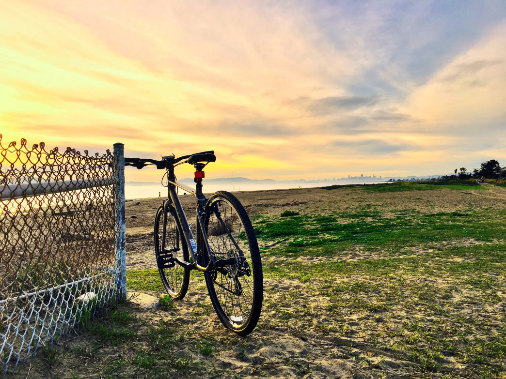 Many of the routes along the Capitol Corridor offer scenic views like this one in Alameda.