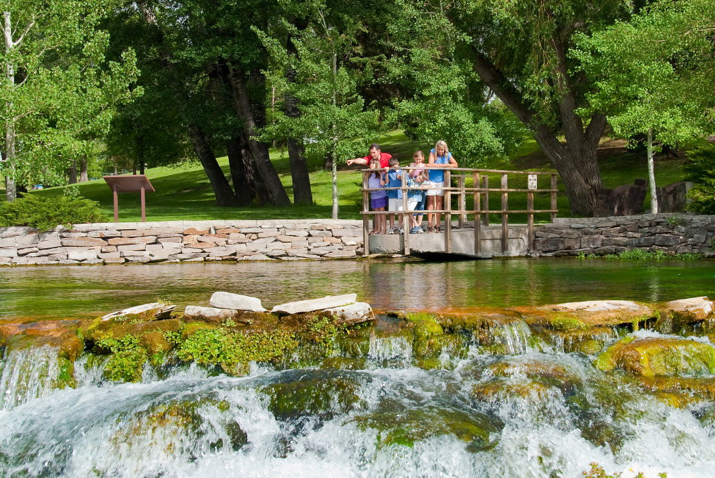 Giant Springs draws more than 500,000 visitors a year.