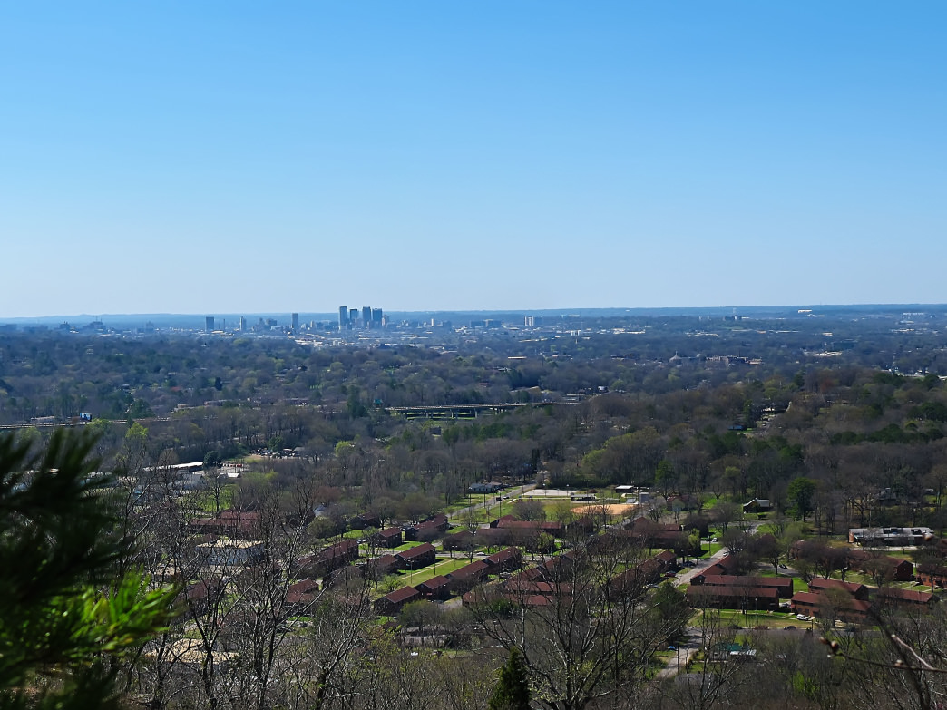 The view from Ruffner Mountain, Alabama.