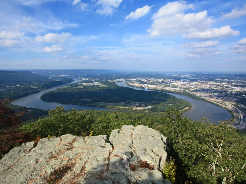 View of MoccasinBend from Point Park, Chattanooga, Tennessee.