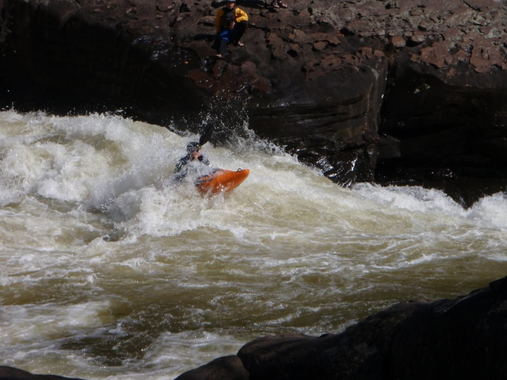 Diving right in to the rapids.
