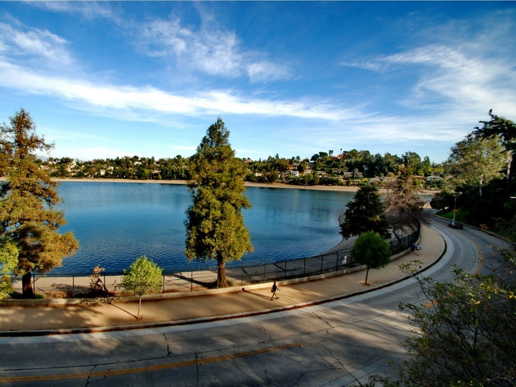 Silver Lake Reservoir Path Road Running