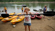 Paddling the Cumberland River